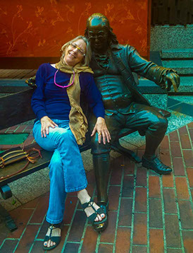 Thomas Jefferson and Ruth Rhoten relaxing